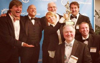 The editorial cartoonists! Congratulations to Ann Telnaes on her big win!